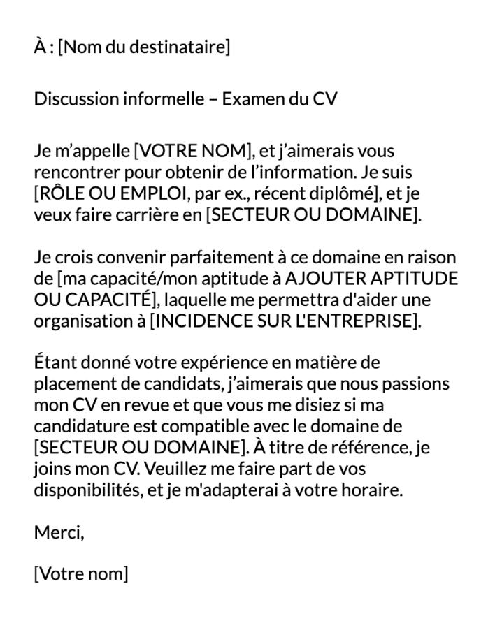 Modèle de Examen du CV