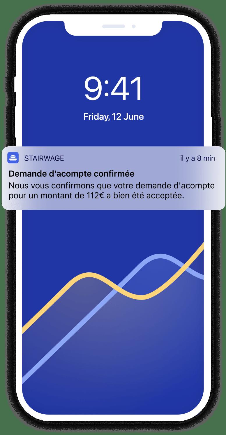 Notification d'acompte confirmée
