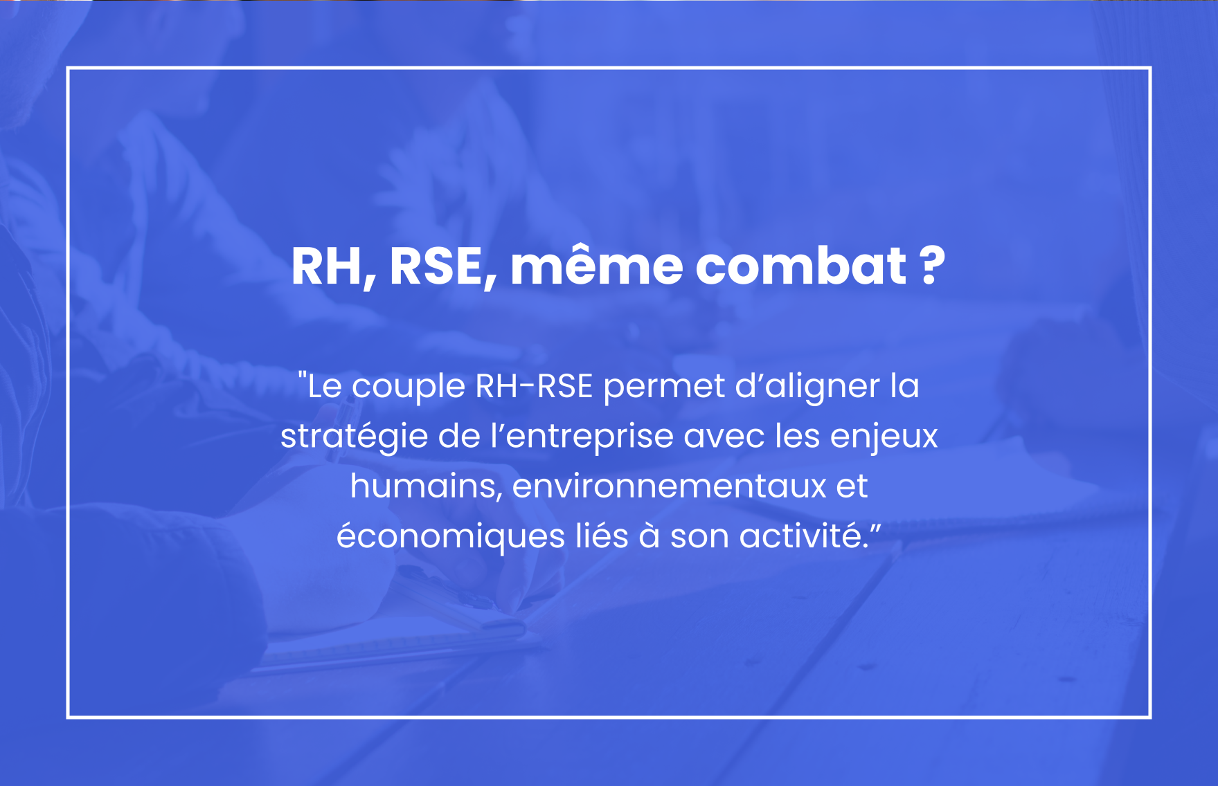 RH – RSE, même combat ?