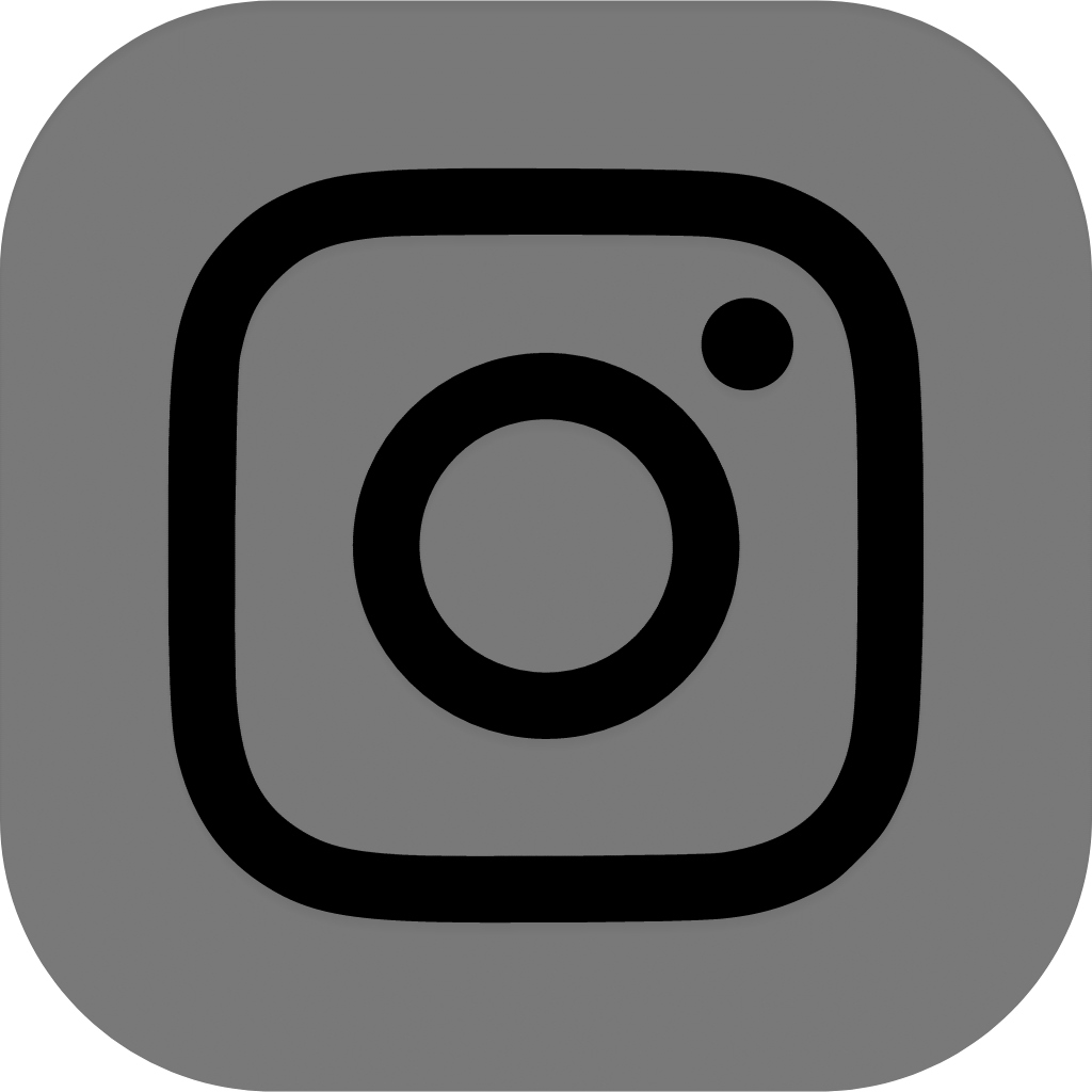 instagram icon grey and black