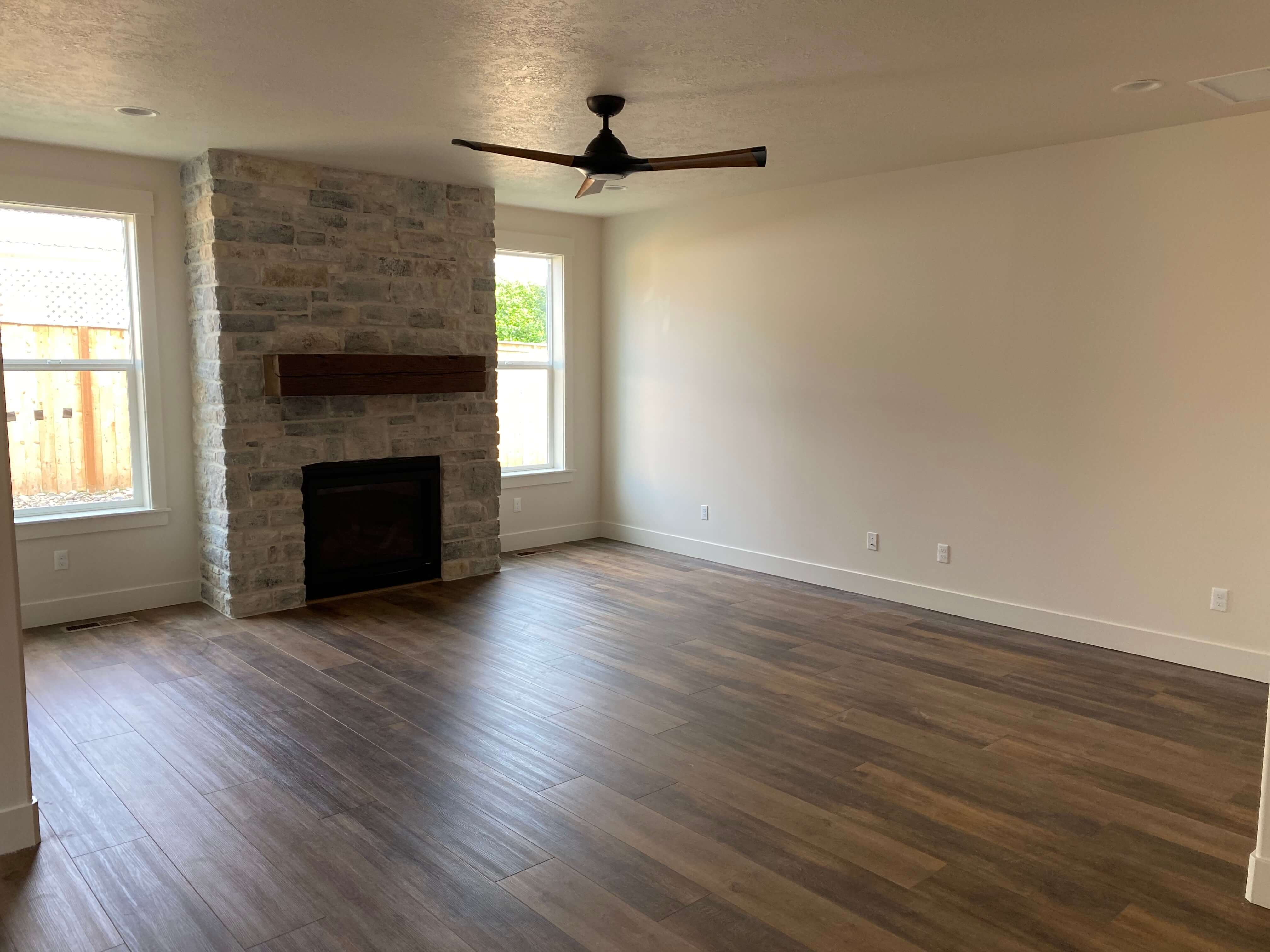 Laminate Flooring with Fireplace