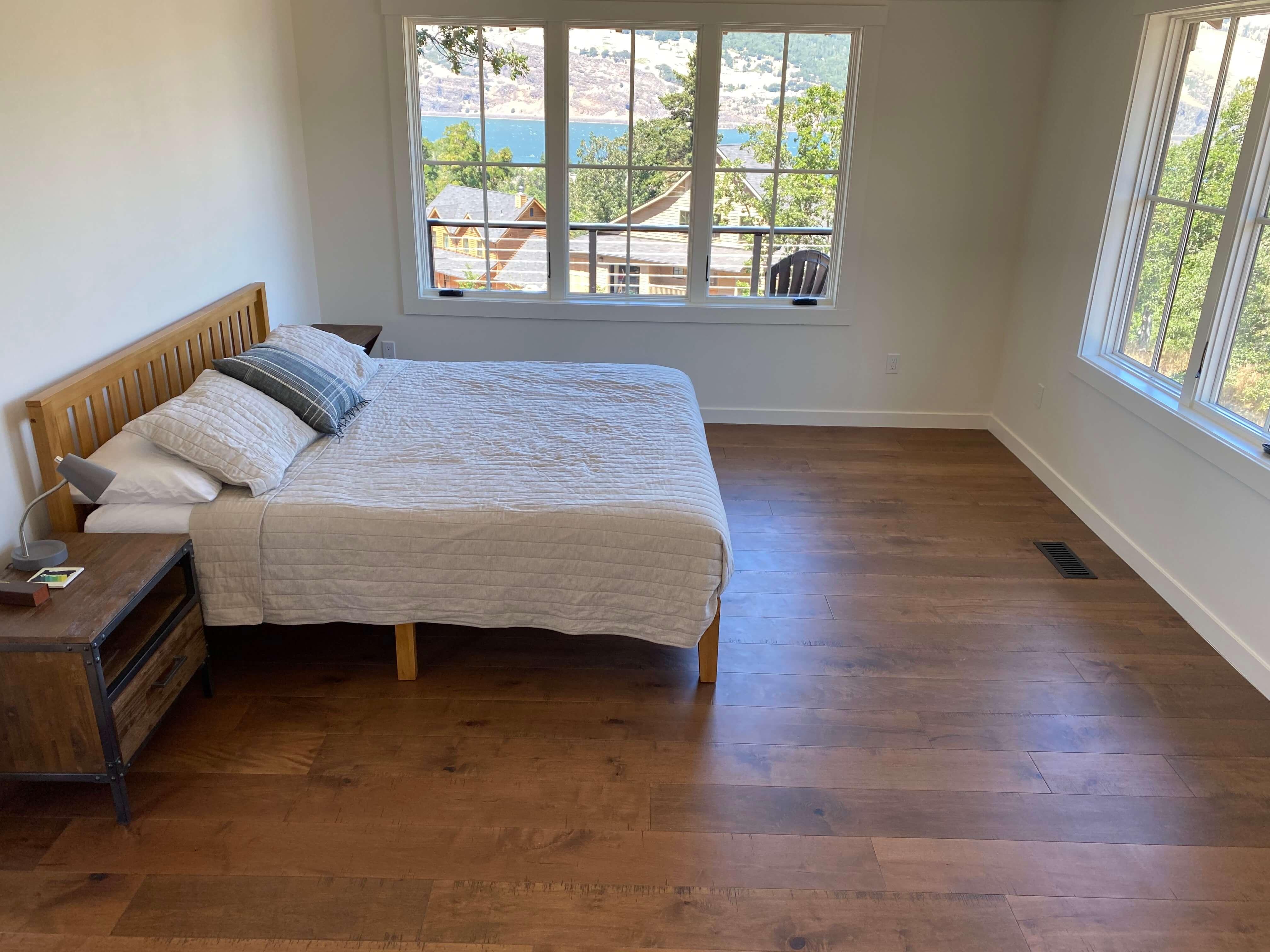 Luxury Vinyl Plank Flooring in Bedroom