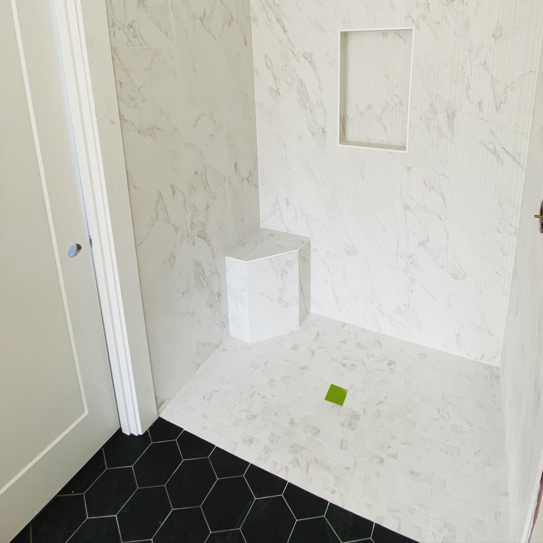white tile shower salem or