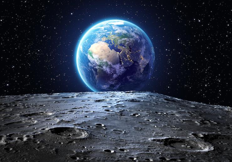 On the Moon looking toward Earth