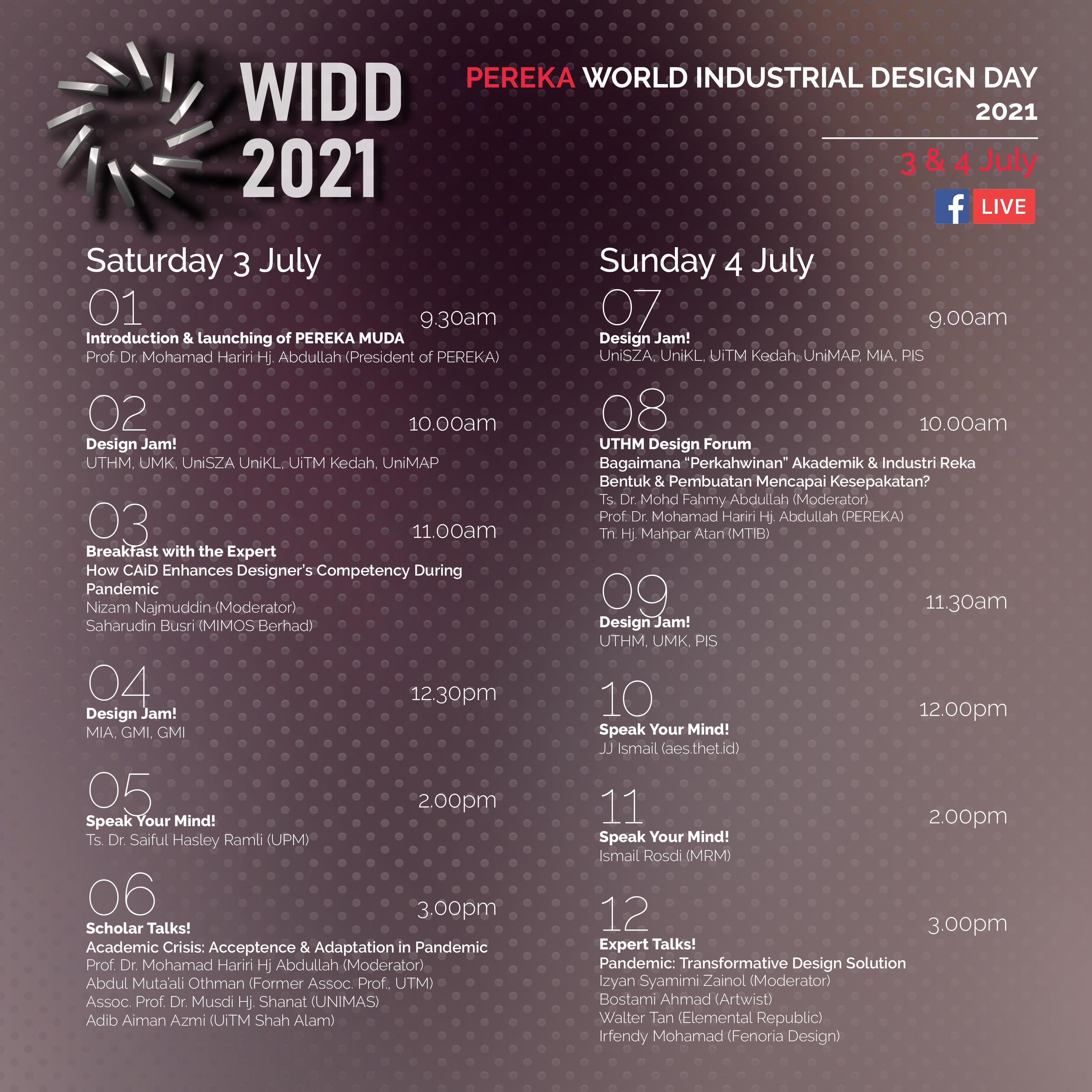 World Industrial Design Day 2021 Tentative