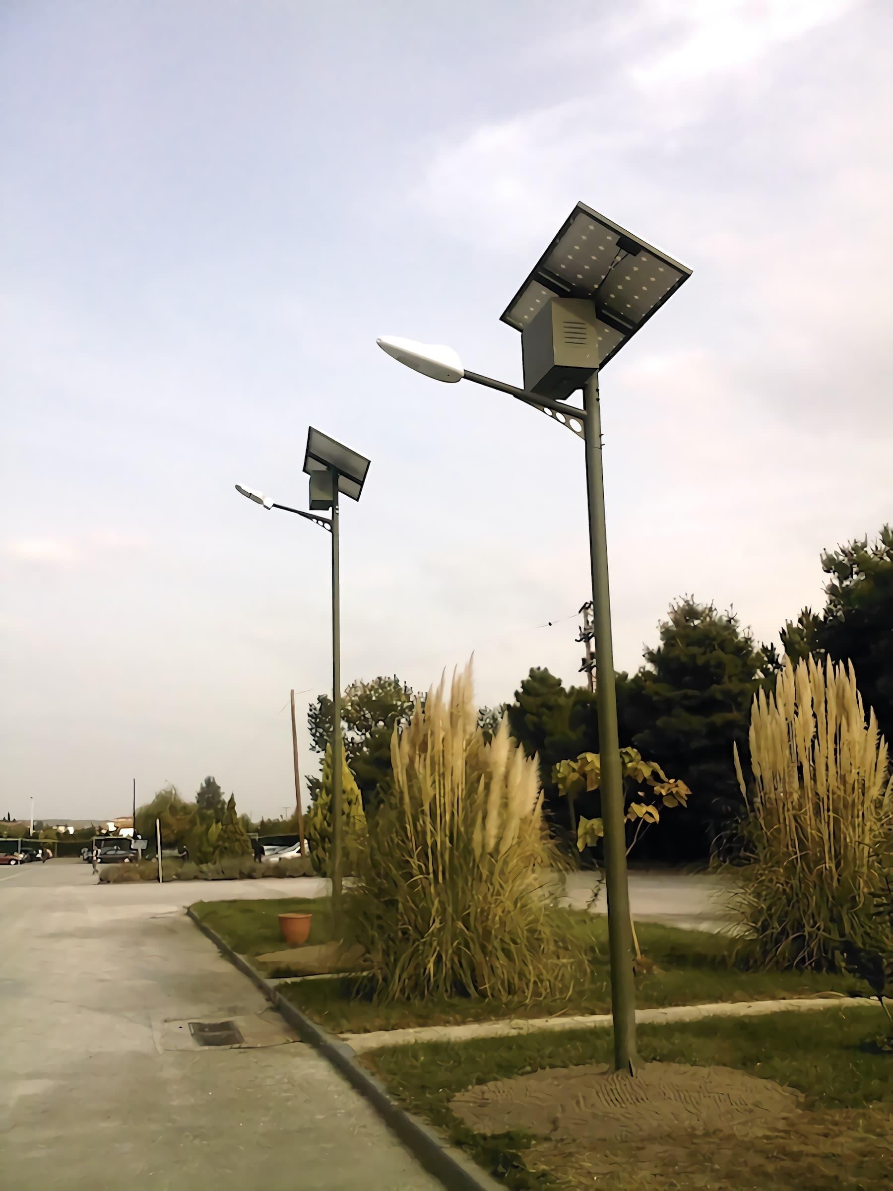 solar-street-light-split-type-35-watts-installation-in-Lagos-of-Nigeria