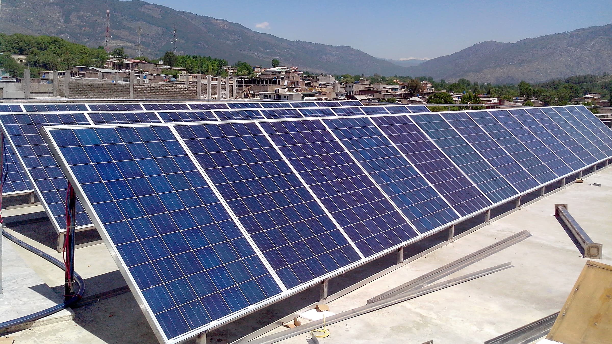 Solar power system 10 kilo watts off-grid is an independent and reliable source of electrical power that supports important electrical systems and appliances on the loss of normal power supply