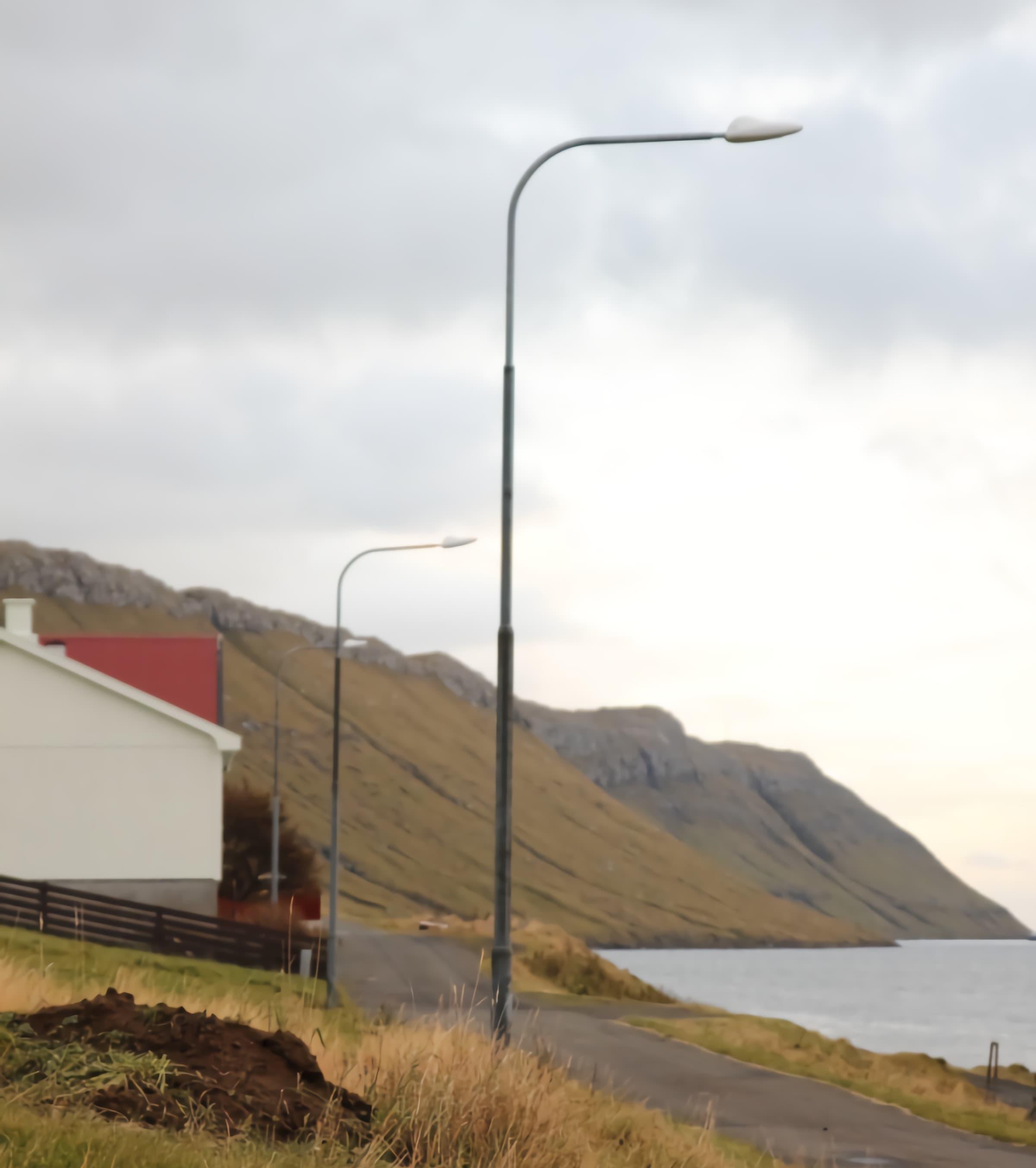 35-watts-led-street-light-installation-in-Faroe-islands