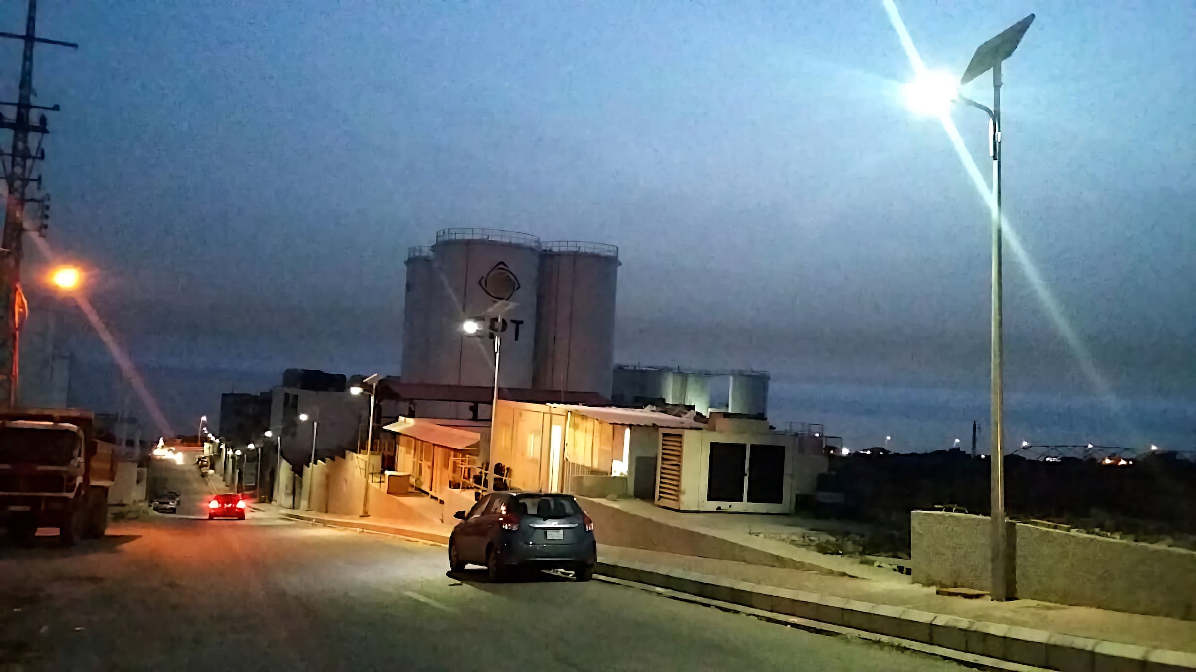 Success story of 35 watts solar street light project installation in Lebanon which offers supper quality of light to the streets and make it more safe driving area in the evening