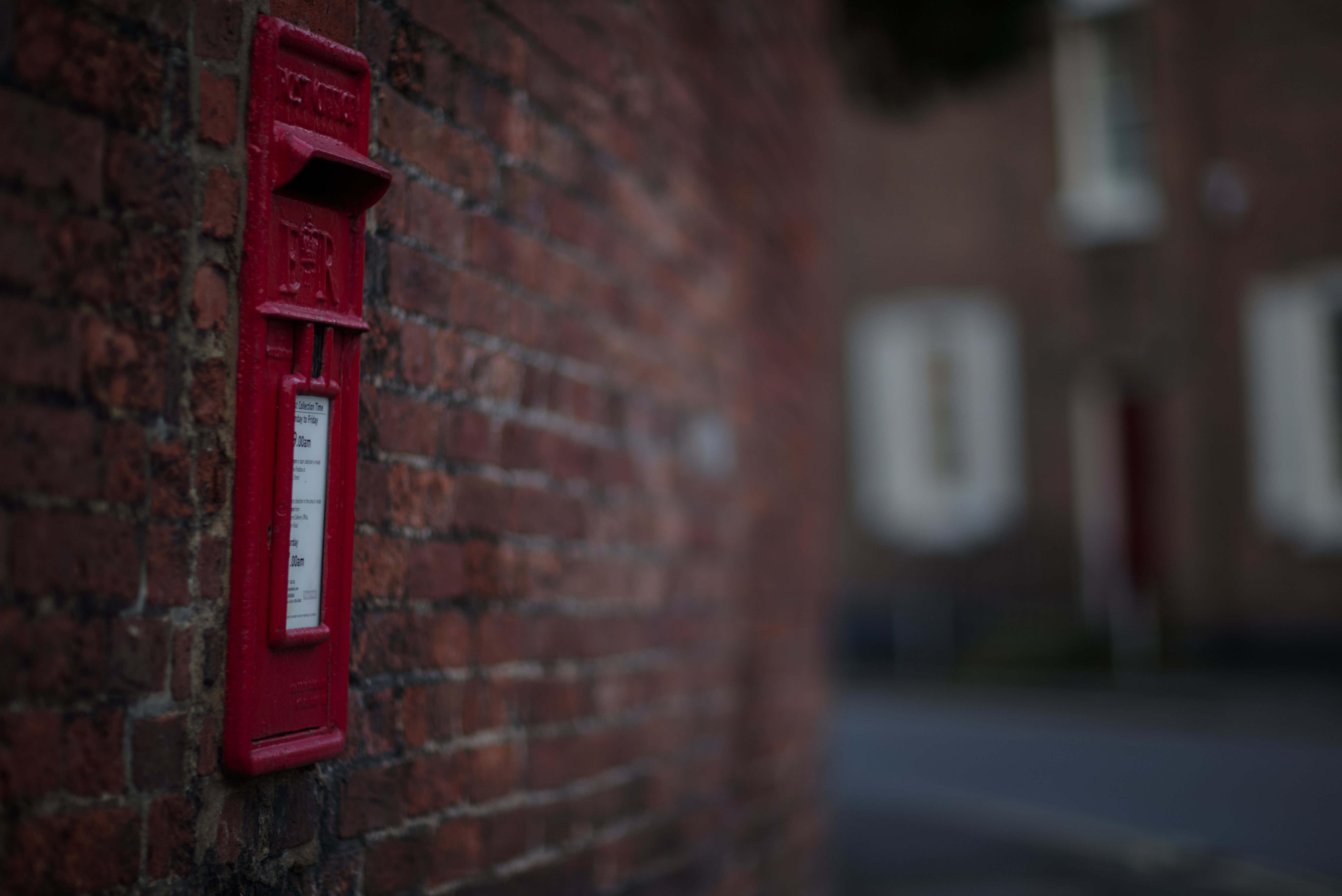 Postbox opposite Belle-Vue Road junction