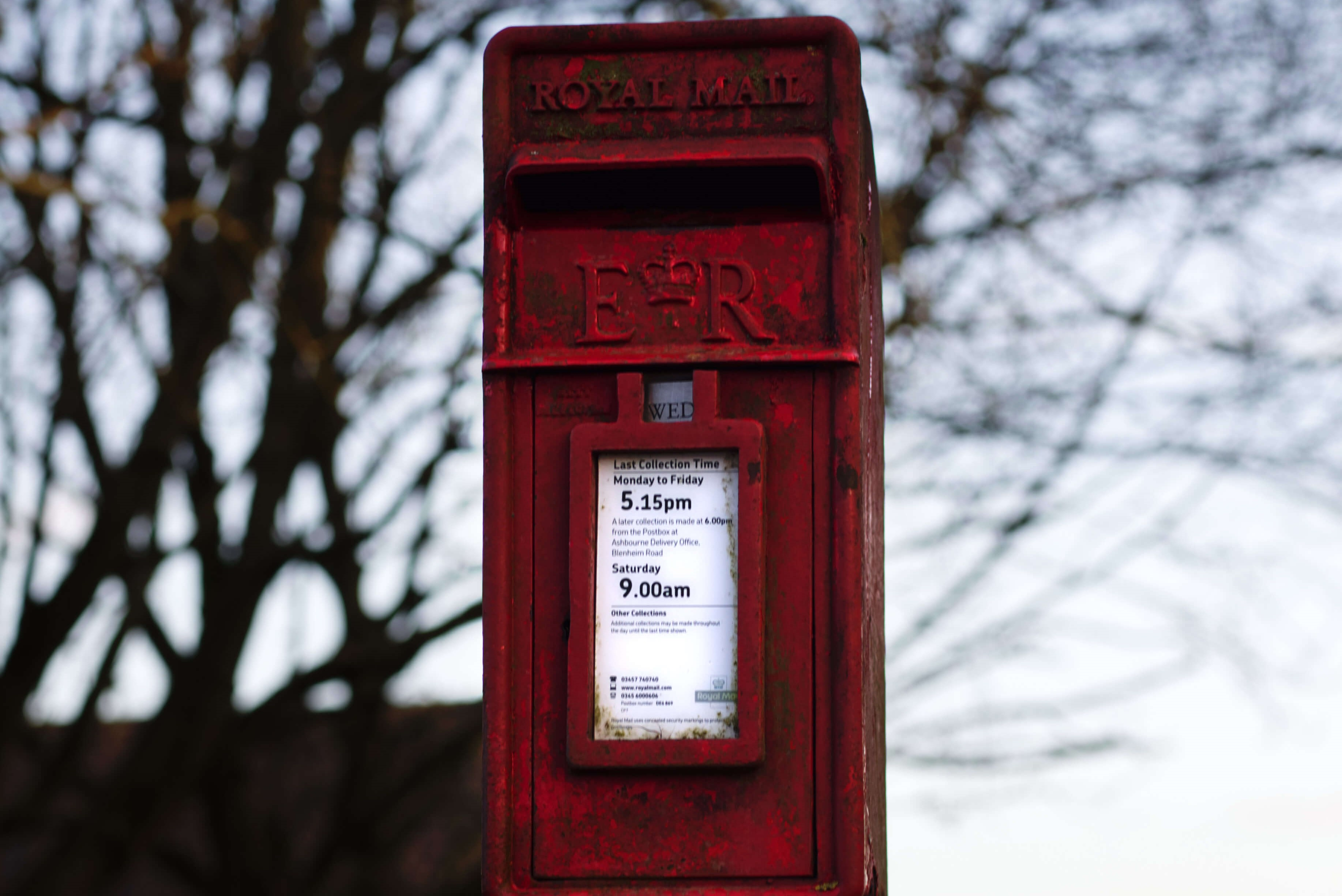 Postbox by Hilltop School