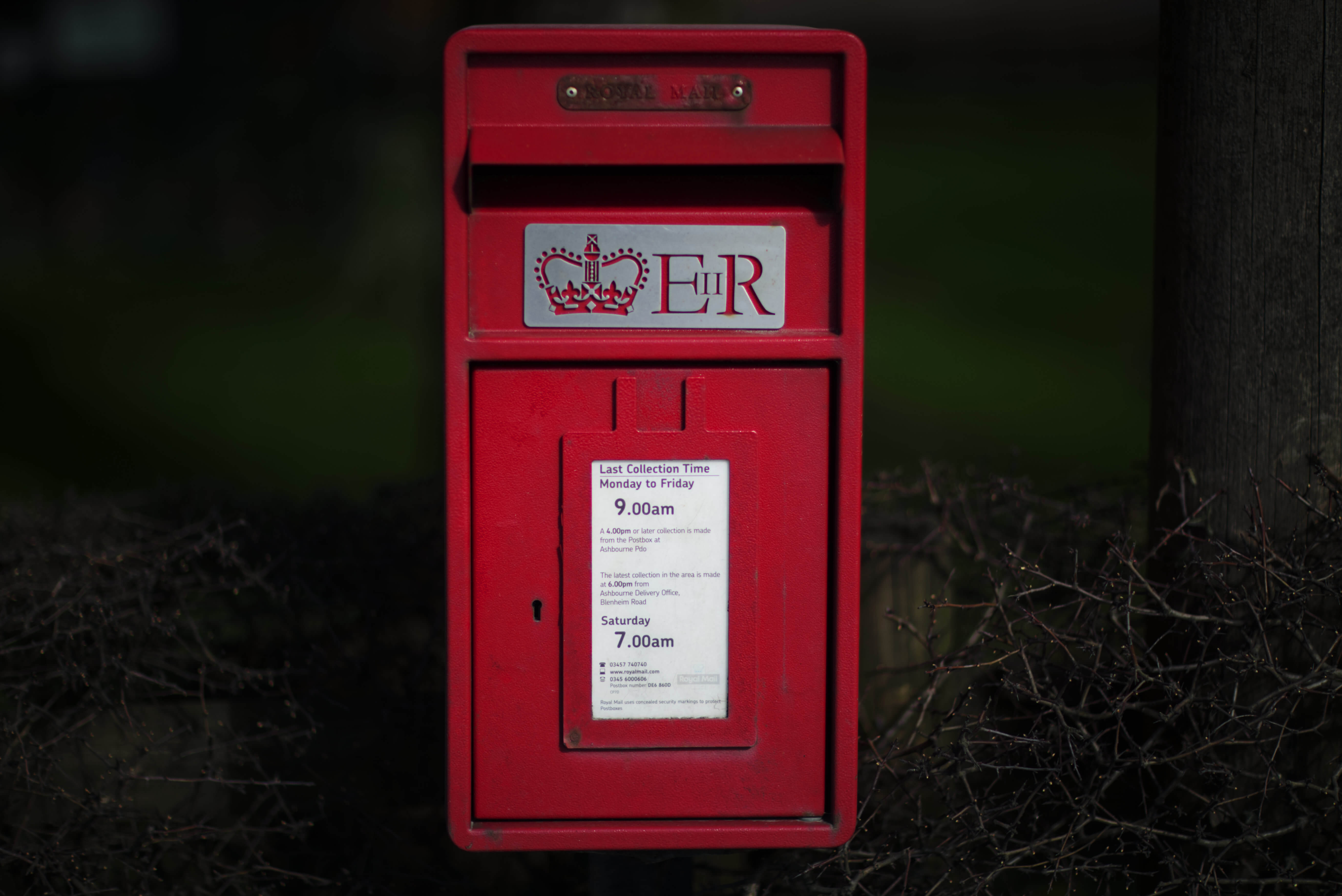 Postbox on A52 Derby