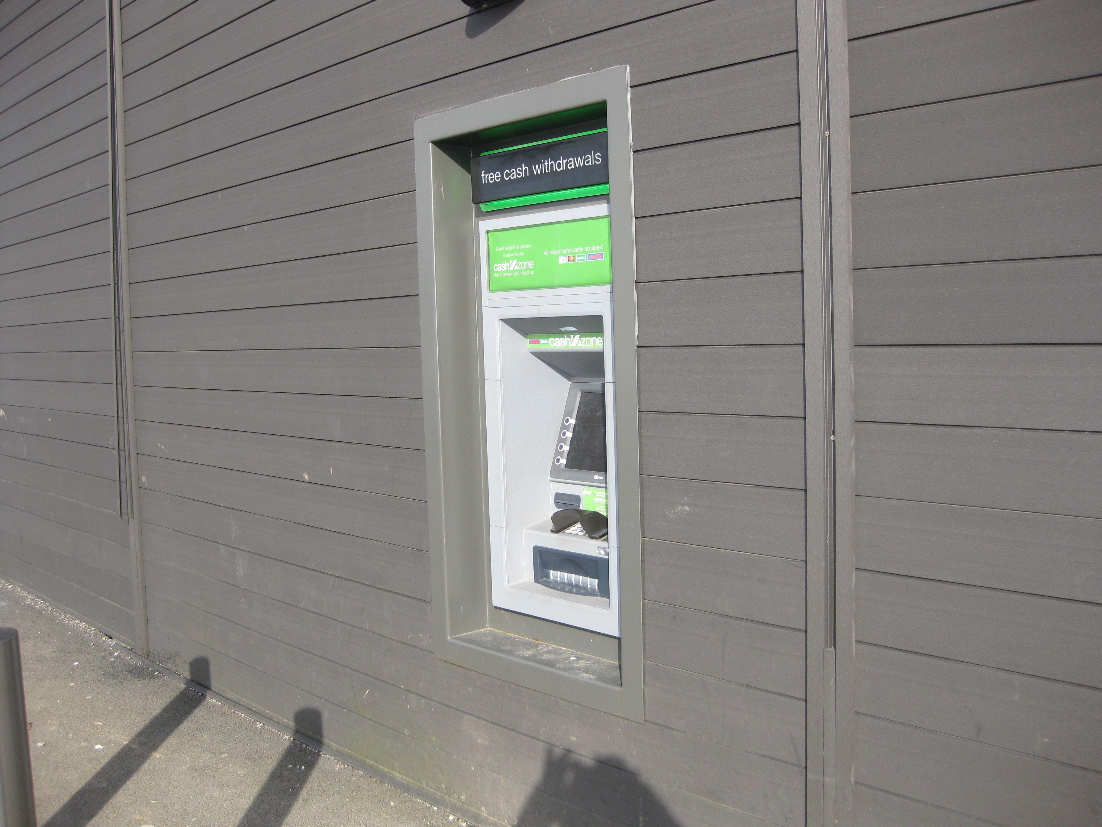 Cash Machine at Greggs
