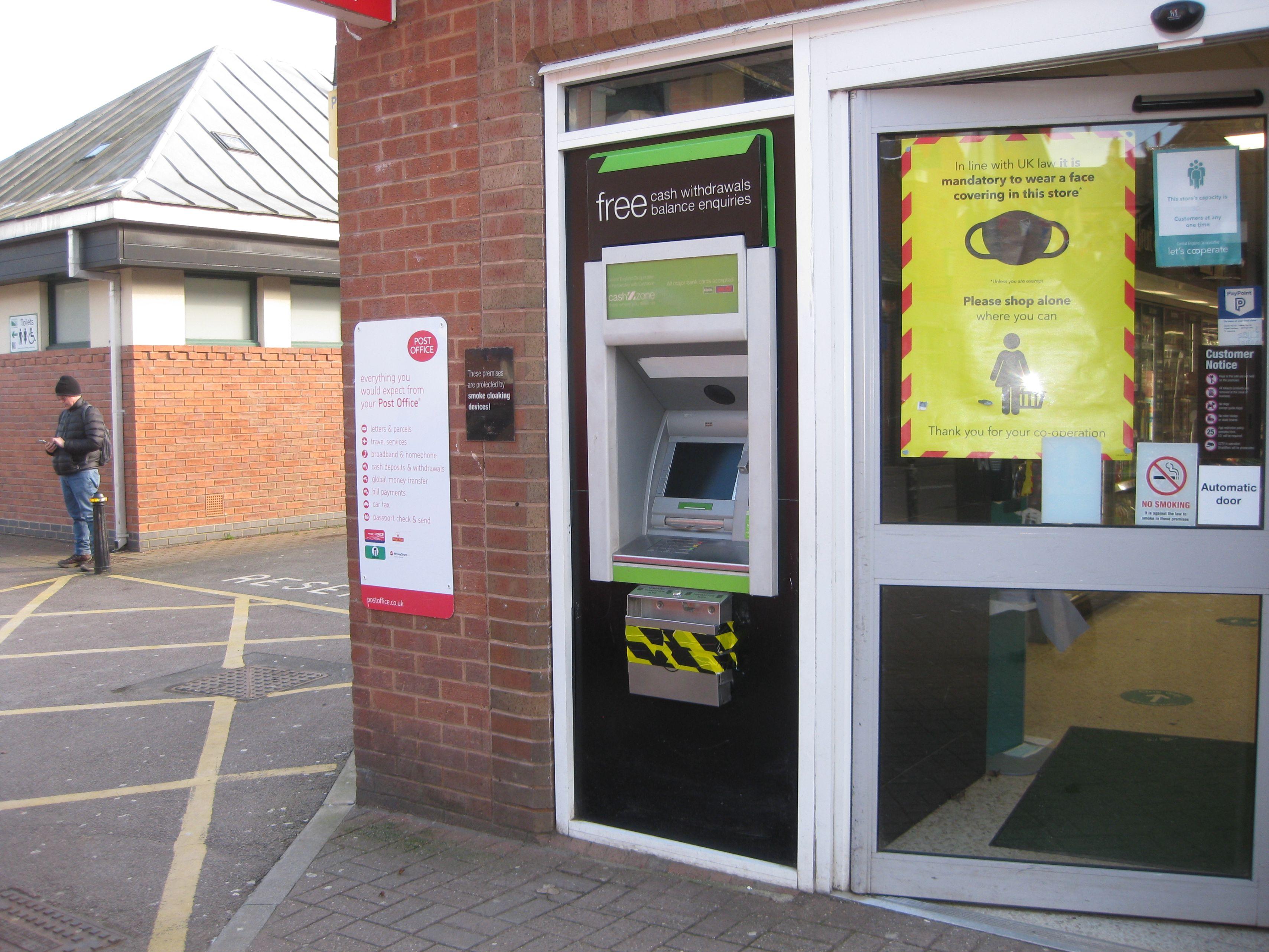 Cash Machine at Coop