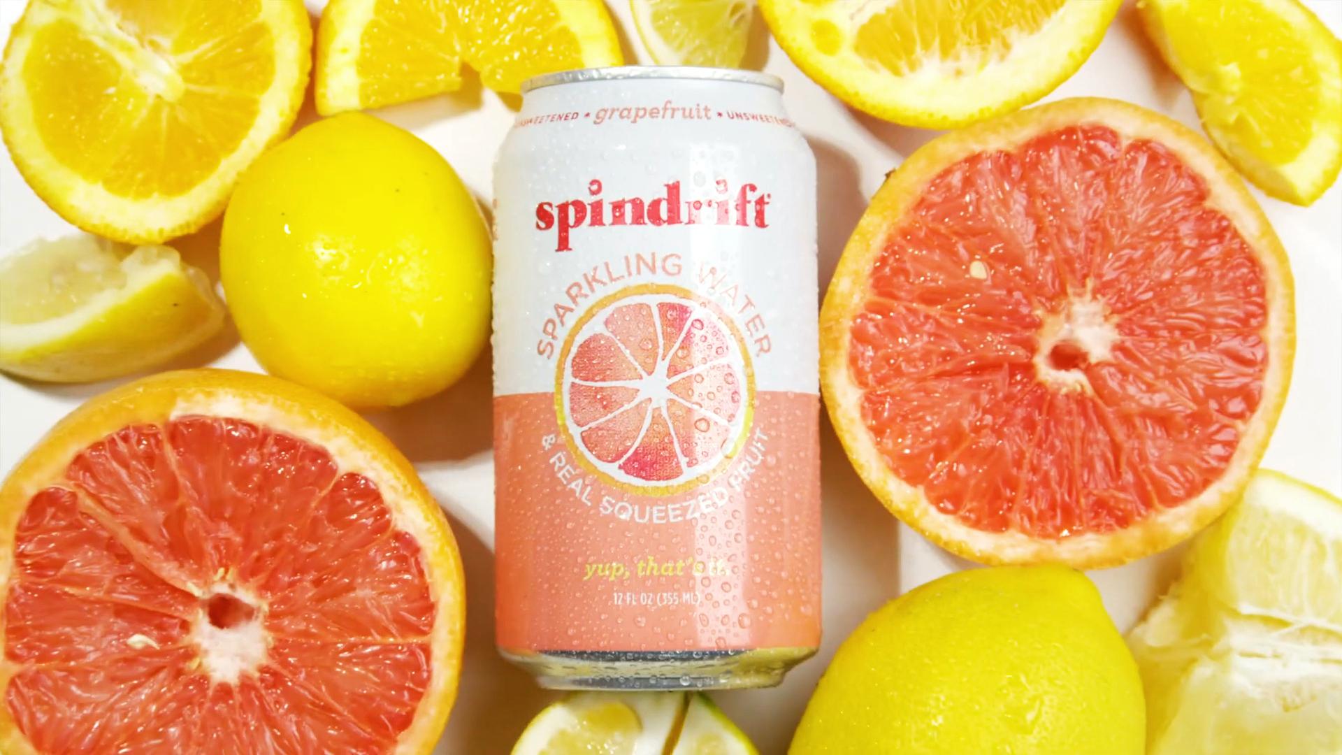 Spindrift Grapefruit Sparkling Water Spec