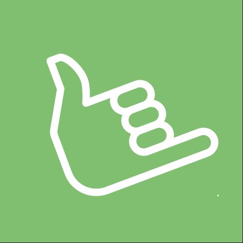 Grüner Kreis mit Symbol für Einfachheit