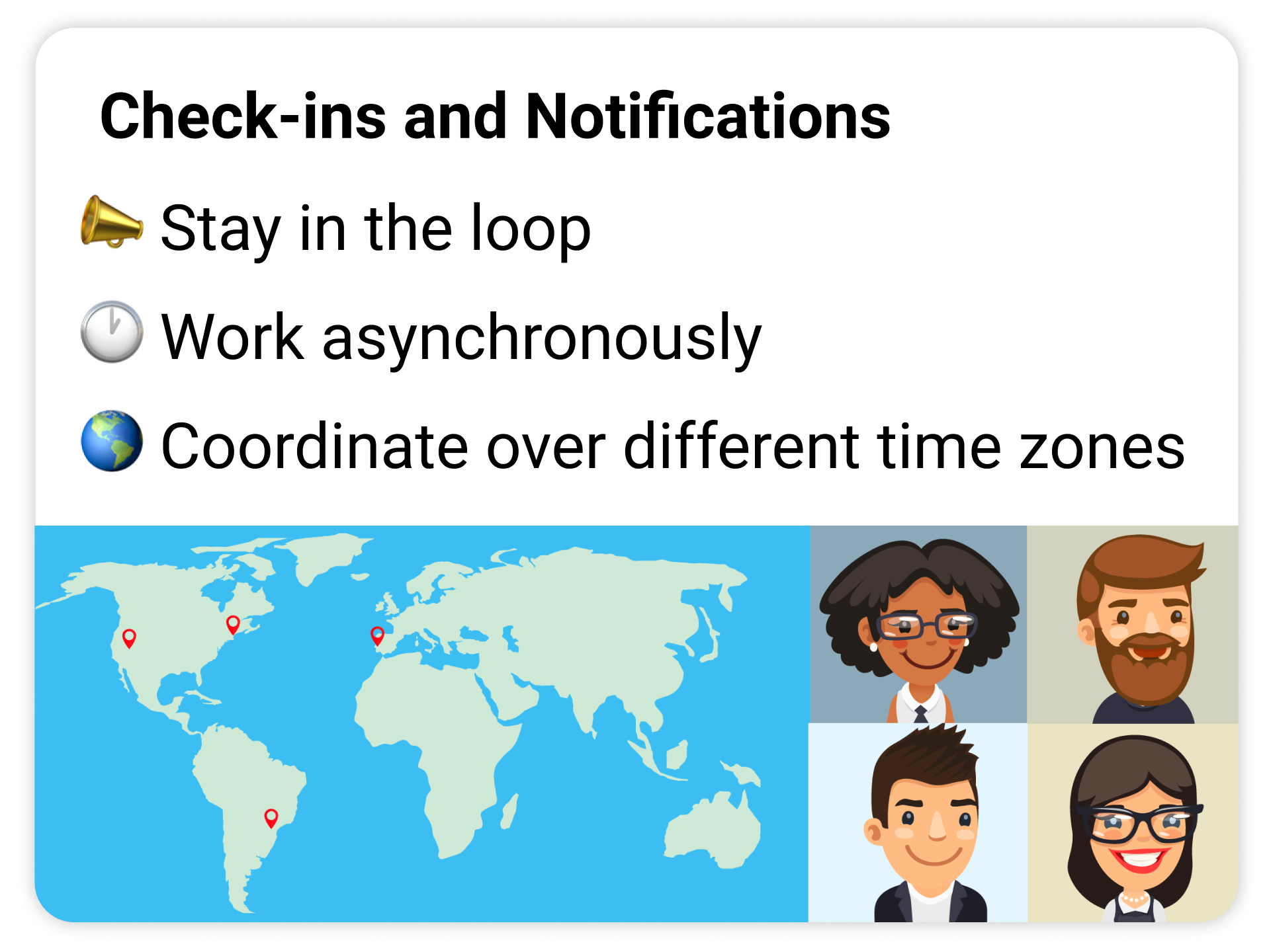 automation enables asynchronous check-ins, notifications