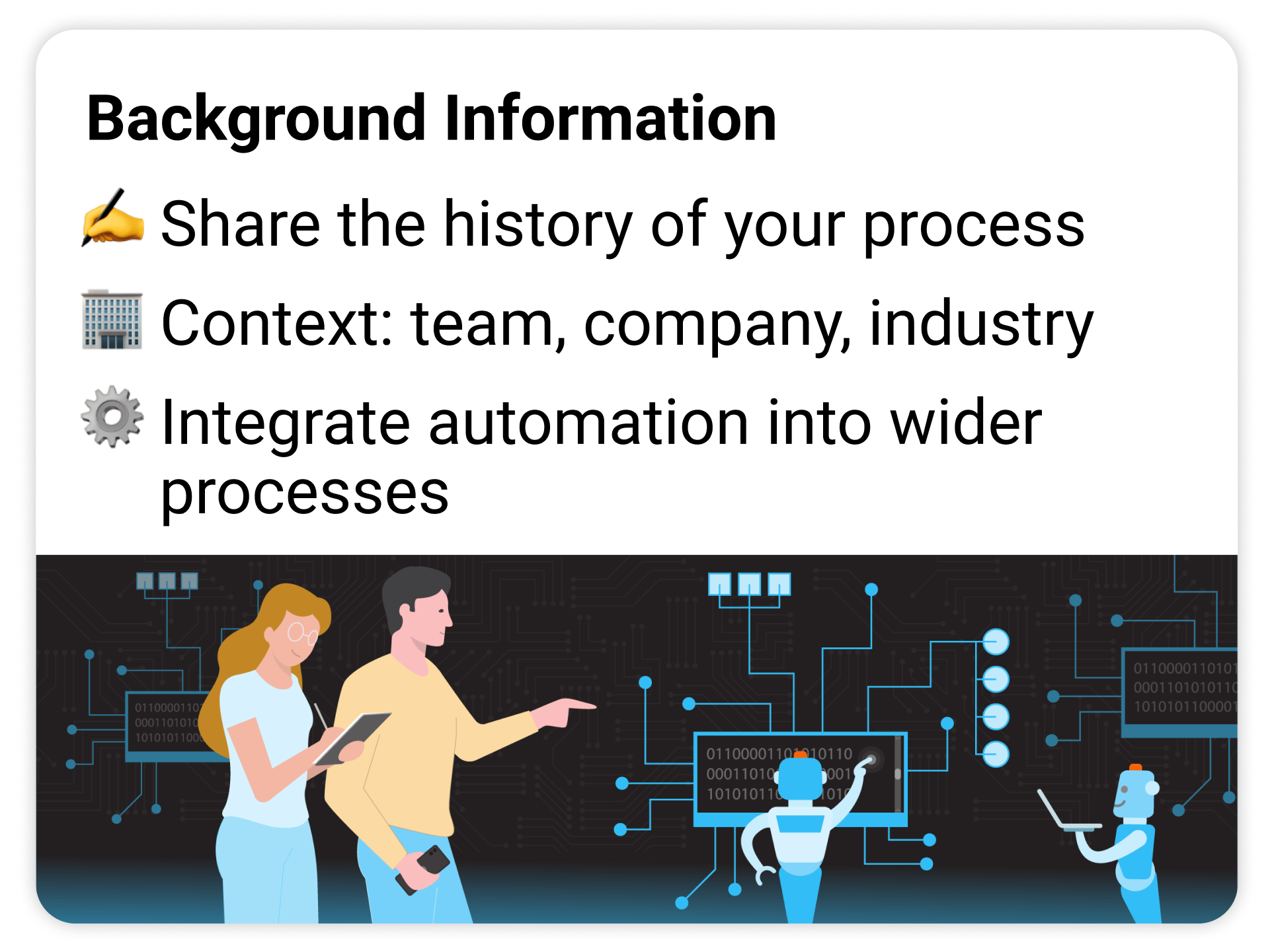 Explain the process background