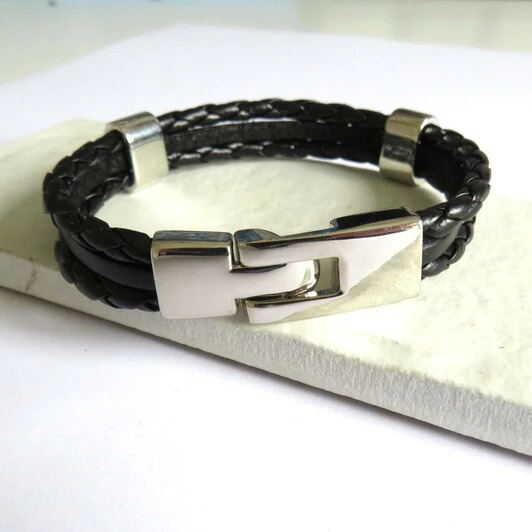 Leather Clasp Bracelet