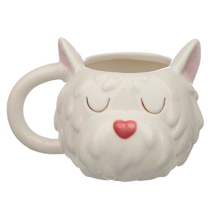 Ceramic Dog Squad Westie Head Collectable Mug