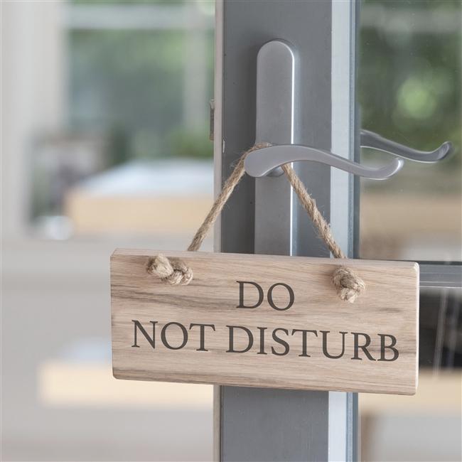 Wooden Oak Sign - Do Not Disturb