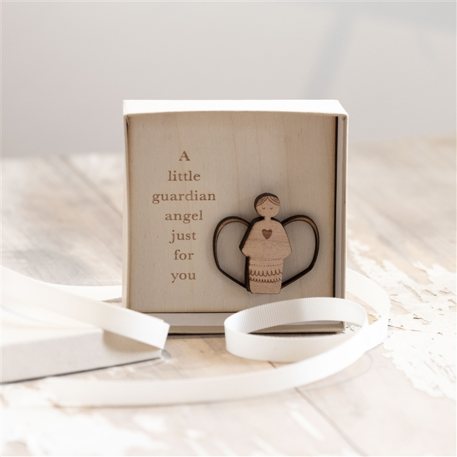 Guardian Angel Wooden Box Gift
