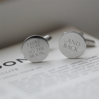 Moon & Back Silver Cufflinks