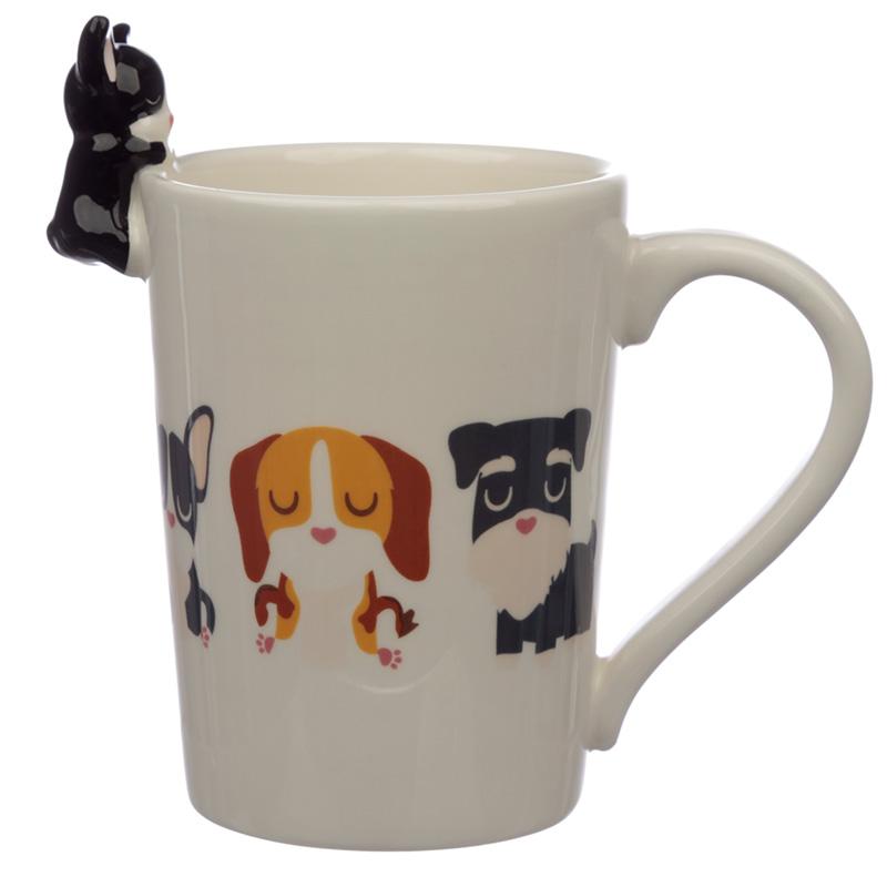 Ceramic Dog Squad French Bulldog on Handle