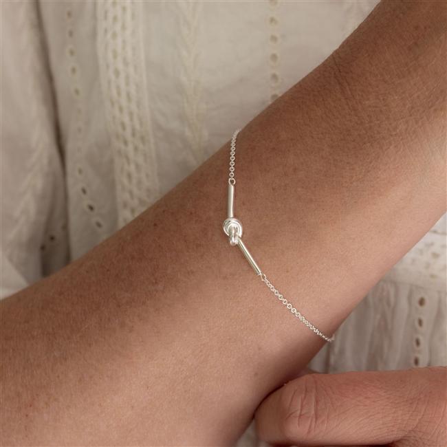 Silver Bracelet - Friendship Knot