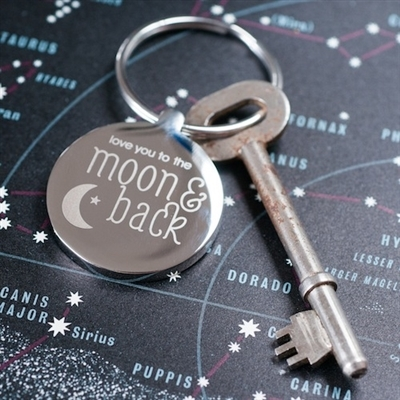 Personalised 'Love You to the Moon & Back' Keyring