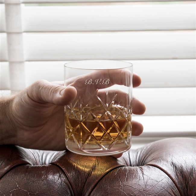 Personalised Crystal Cut Whisky Glass