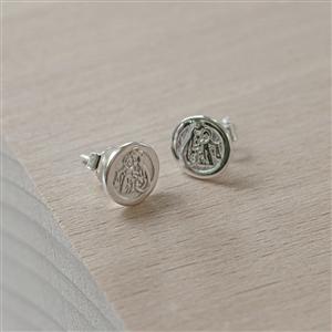 Personalised St Christopher Earrings
