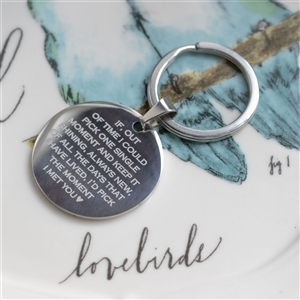 Personalised 'Moment I Met You' Keyring