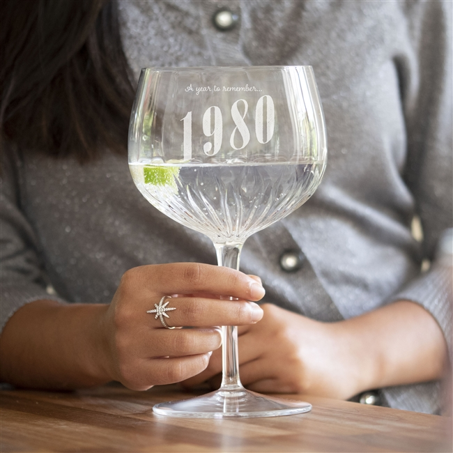 Personalised 'Year To Remember' Gin Glass