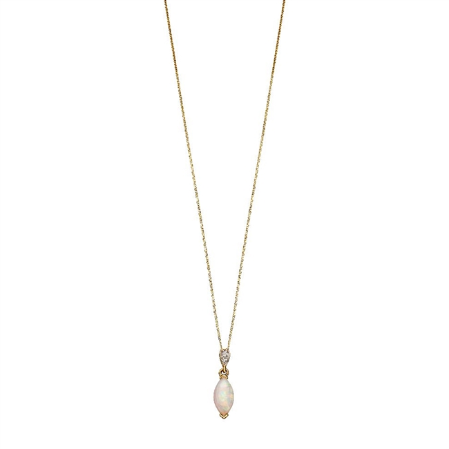 9ct Gold & Opal Necklace