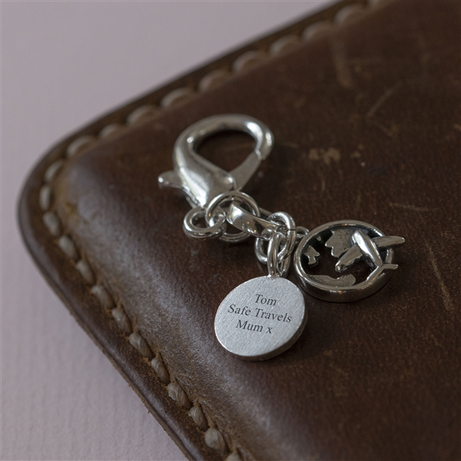 'Great Adventures' Silver Travel Charm