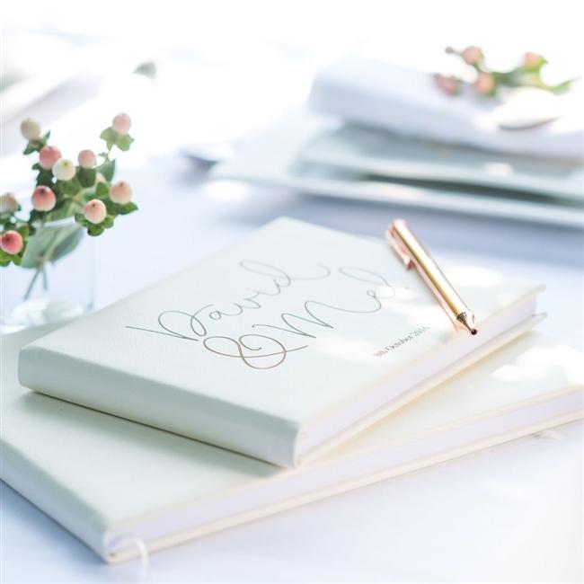 Leather Script Guest Book