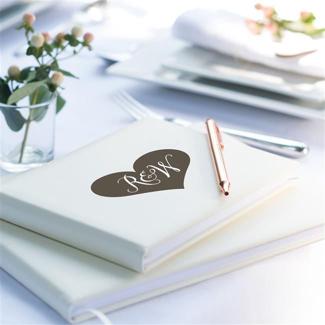 Heart Initial Guest Book