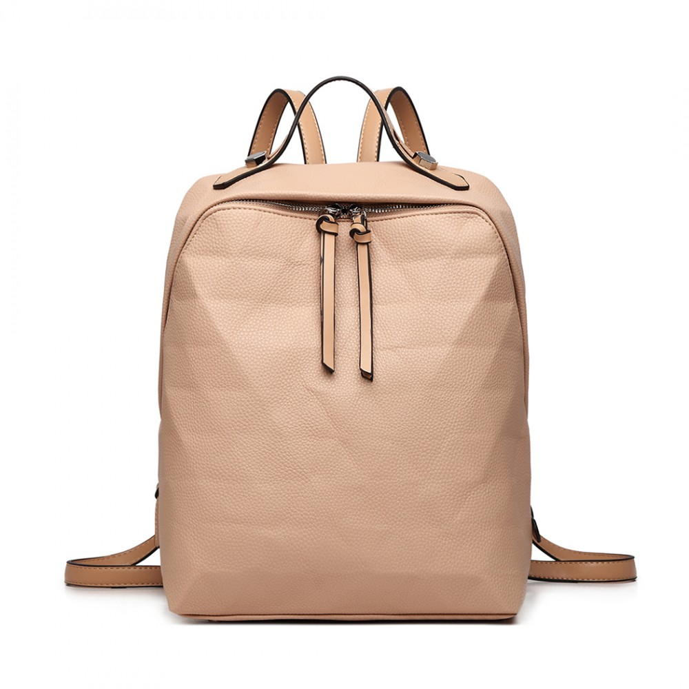 Prism Pattern Leather Backpack