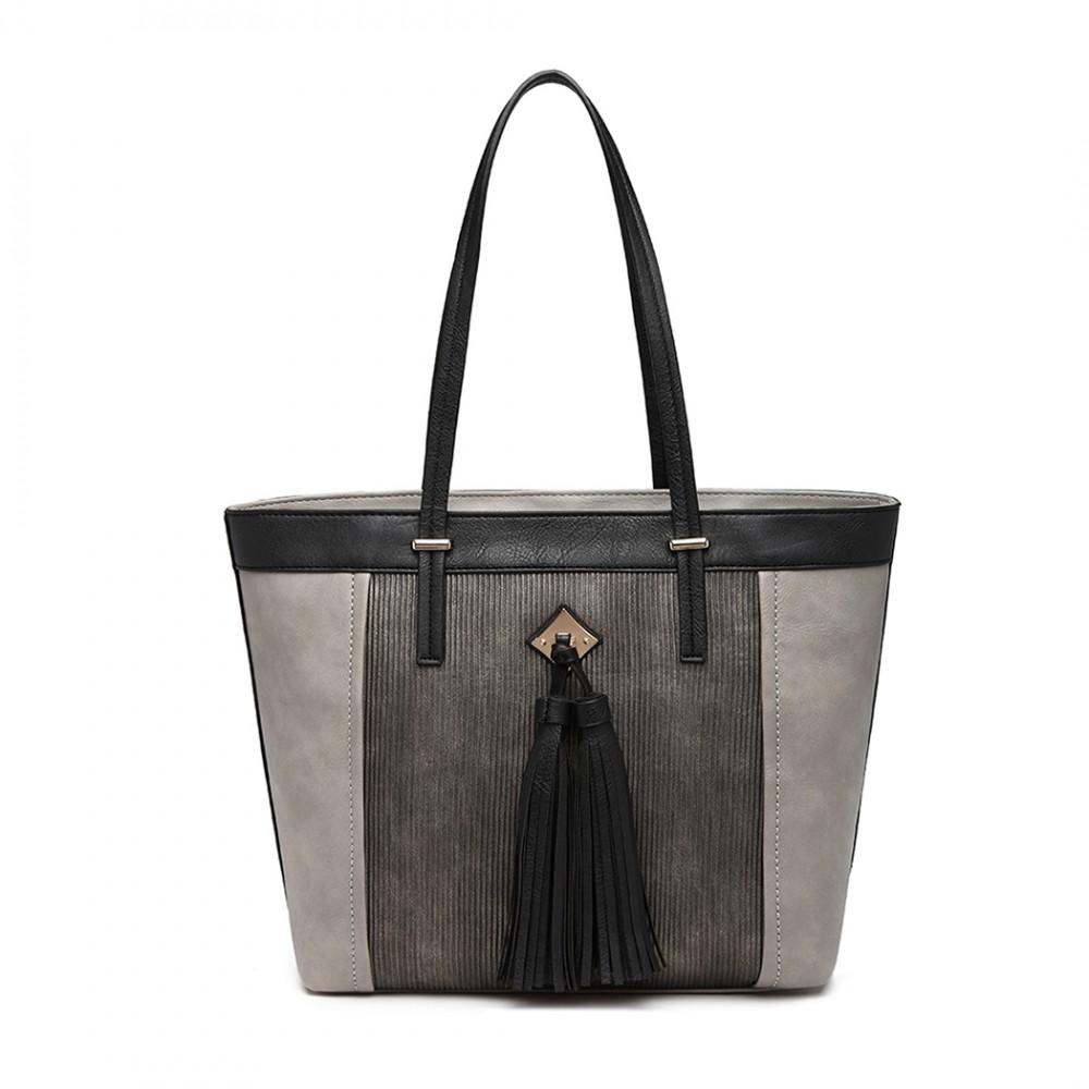 Leather Tassel Tote Bag