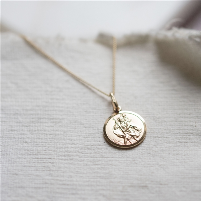 9ct St Christopher Necklace