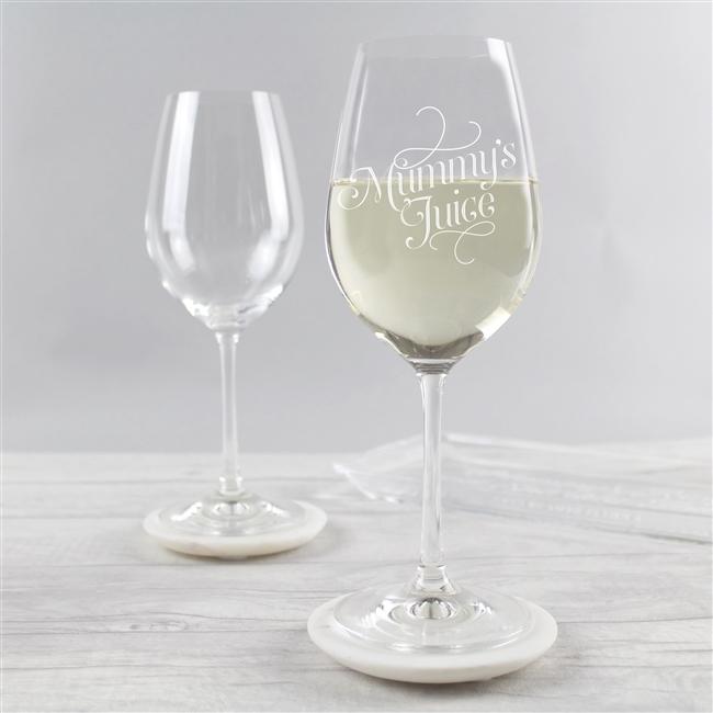 'Mummy's Juice' Wine Glass