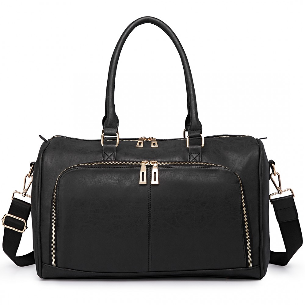 Leather Maternity Bag - Black