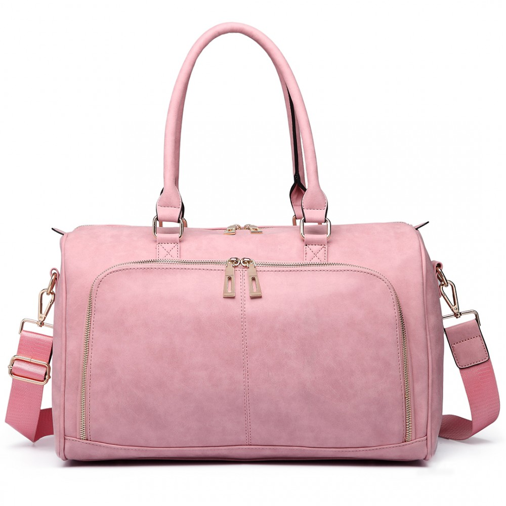 Leather Maternity Bag - Pink