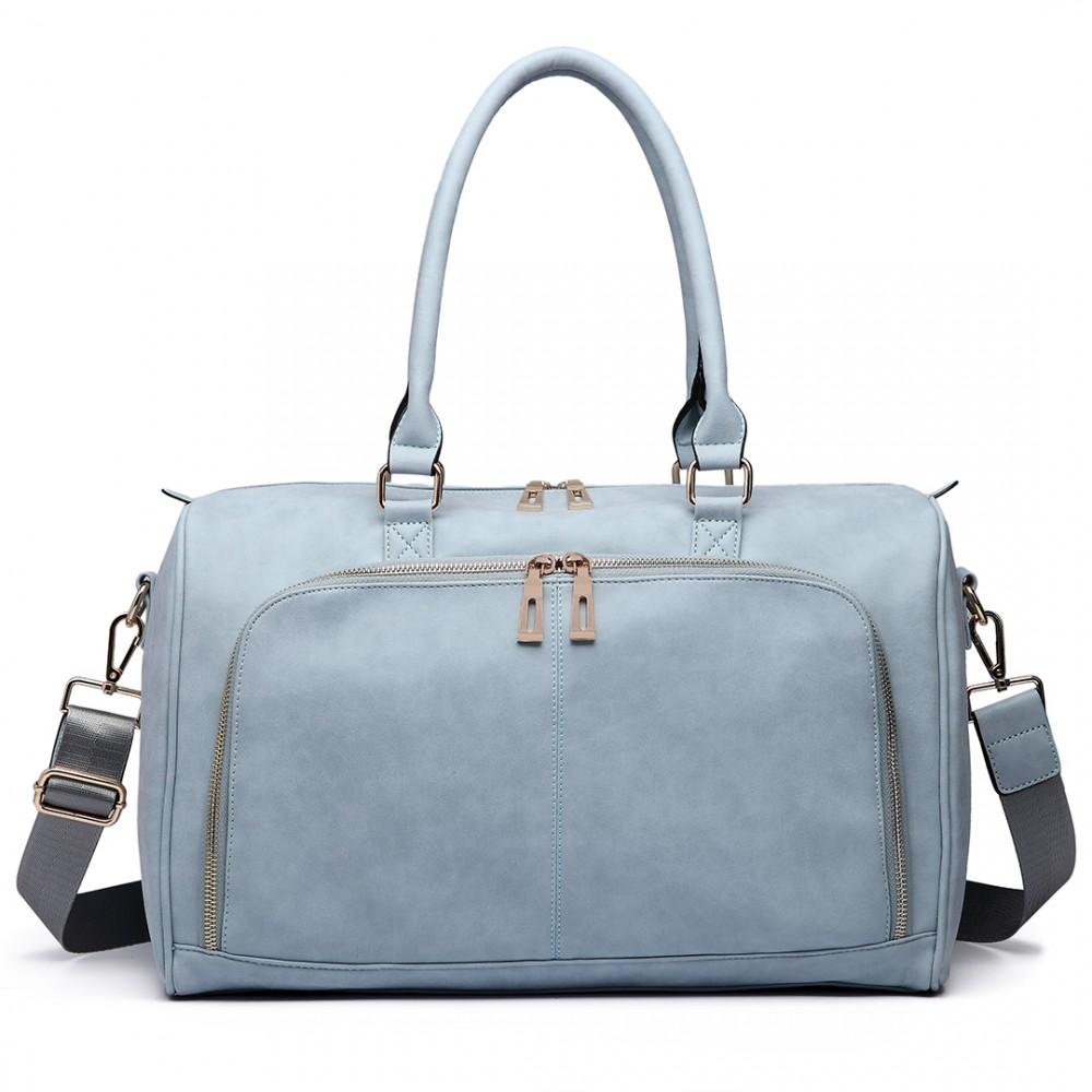 Leather Maternity Bag - Blue