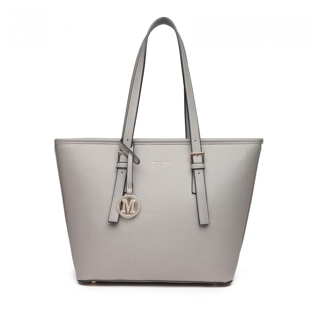 Minimalist Tote Handbag - Grey