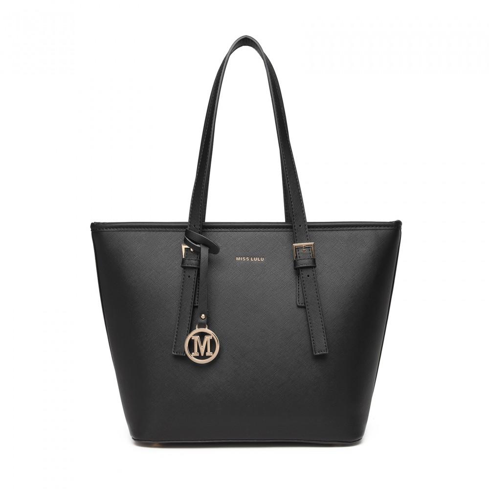 Minimalist Tote Handbag - Black