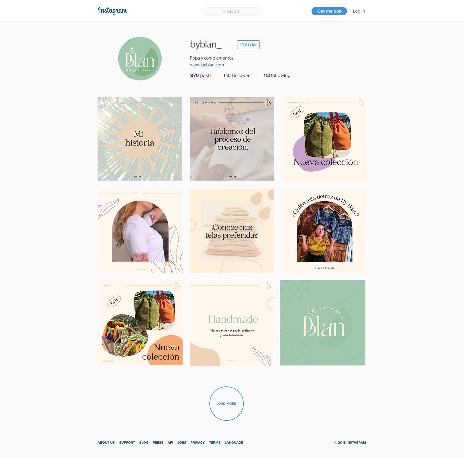 Template Instagram para By Blan