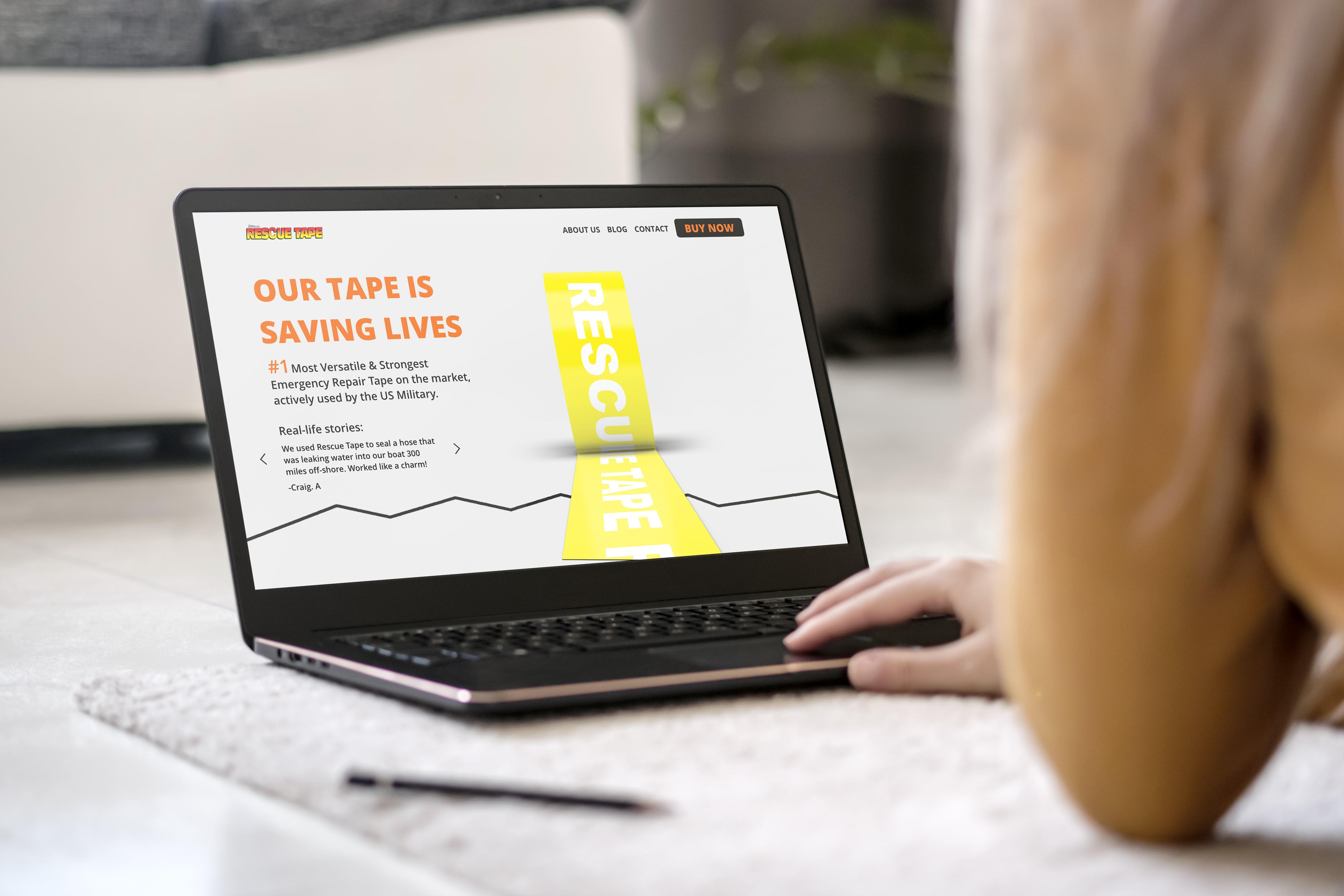 Web dizajn za Rescuetape