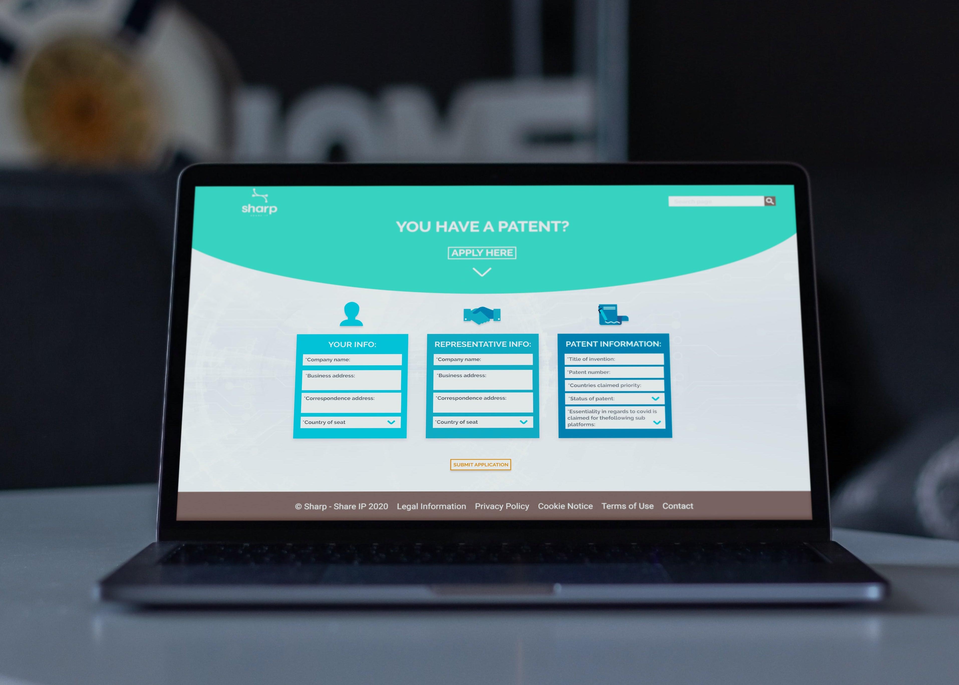Web dizajn za Sharp IP platformu